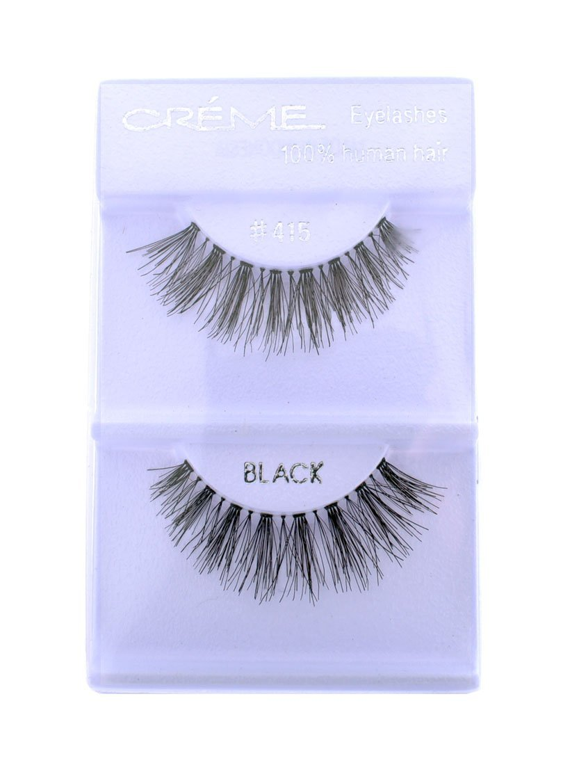 Human hair false eyelashes 415