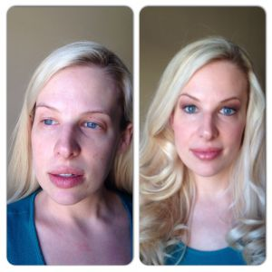 Before and after makeup Northern Virginia