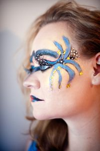 Gorgeous artistic makeup look