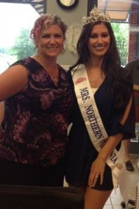 Michelle, Makeup Artist and Karla Henry, Mrs. Northern Virginia 2015 Queen.