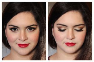 Smoky Eyes and formal makeup look