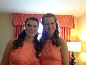 Beautiful bridesmaids airbrushed natural to perfection