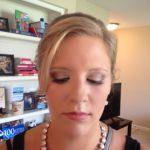 Bridesmaid airbrush makeup with light smokey eyes by Maria