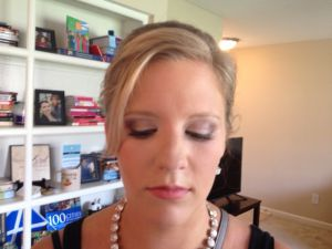 Bridesmaid airbrush makeup with light smokey eyes by Maria