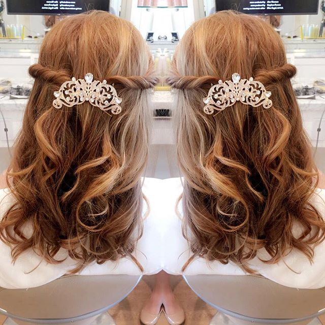 Long hair bridal style by Andrea
